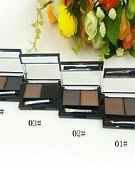 sólido doble polvo ceja de color (4 colores seleccionables)
