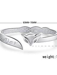 Cuff armband - Dames - Armbanden (Zilver )