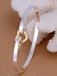 Farbseparation der Liebe Silber vergoldet Armband
