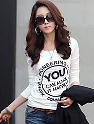 совместно со КОПИНЕ женщин новый корейский моды причинно-следственная тонкий тонкий футболка