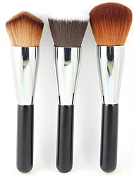3 Makeup Brushes Set Synthetic Hair Face / Lip / Eye Others