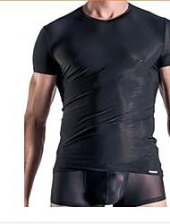 moda masculina causal sleepwear confortável encabeça sensuais cuecas boxer de seda gelo (camisas + calças)