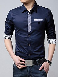 Men's Lapel Fashion Business Dress Shirt