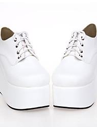 blanco PU 10cm de cuero zapatos del lolita punky plataforma