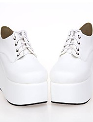 White PU Leather 10CM  Platform Punk Lolita Shoes