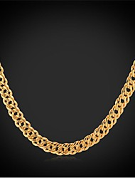 InStyle New Cool Men's 18K Real Chunky Gold Plated Link Chain Necklace Jewelry for Men High Quality 55CM
