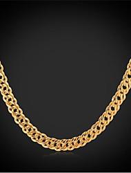 18k ouro real robusto InStyle novos homens legal banhado elo da cadeia colar de jóias para homens de alta qualidade 55 centímetros