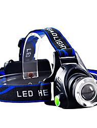 Waterproof 3-Mode Cree Q5 Zoom Outdoor Headlamp(800LM,1*18650,Blue)