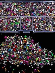5000pcs mezclar los pernos prisioneros coloridos rviets decoración del arte del clavo de la caja