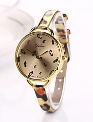 Women Big Circle Dial  Leopard Thin Brand Luxury Lady Watch C&D-285