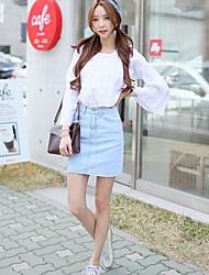la moda de las mujeres de la una línea de faldas