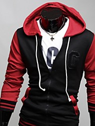 White Men's Fashion New Assorted Colors Embroidery Hoodie Coat