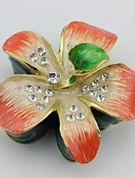 forme de boîte de bijou de fleurs