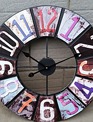 Mordern Colourful Number Iron Round Wall Clock