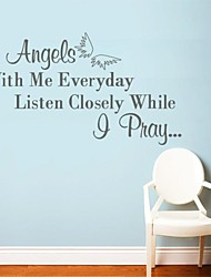 Wall Stickers Wall Decals, Modern Angel Quote PVC Wall Stickers.