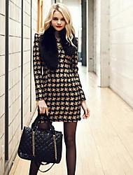 gz&Rundhals bodycon abendländischen Stil Kleid h Frauen