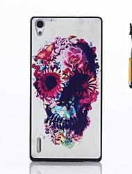 Pour Coque Huawei Etuis coque Motif Coque Arrière Coque Crâne Dur Polycarbonate pour Huawei Huawei P7
