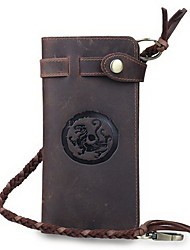 Men's Retro China wind long leather wallet