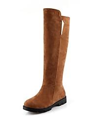 altas botas de los zapatos de moda las botas de tacón bajo la rodilla de la mujer con hebilla más colores disponibles