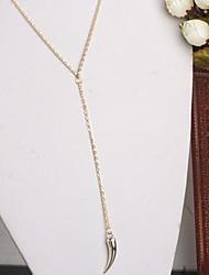 Мода простой перец женские падает короткий ожерелье