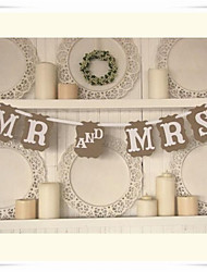 "Wedding Décor Rustic Kraft Paper""MR AND MRS"" Party Banners"