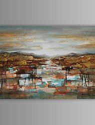 olieverf moderne abstracte zonsopganglandschap de hand beschilderd doek met gestrekte frame
