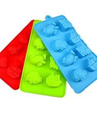8 trous de moules à chocolat gâteau de la forme du véhicule de la glace gelée, silicone 21 × 11,5 × 2,5 cm (8,3 × 4,6 × 1.0inch)