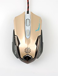 Biso de trois vitesses engrenage sculpture laser de la souris logo USB Gaming Mouse 1600 dpi