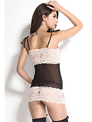 Women Gartered Lingerie Nightwear Patchwork Polyester / Spandex Pink / Red Women's