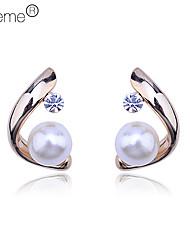 """lureme® """"c"""" orecchini modello di perle (colori assortiti)"""
