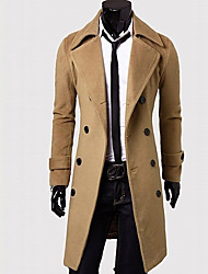 Mumugeorge Men's Slim Double-breasted Coat
