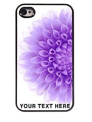 Personalized Phone Case - Half of The Purple Flower Design Metal Case for iPhone 4/4S