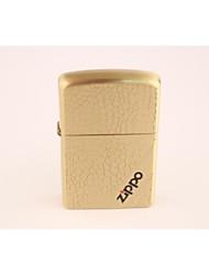 Classic Zippo Golden Metal Lighters Water Cube