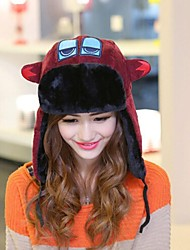 Unisex's Outdoor Winter Cartoon Embroidery High End Plush Warm Hat