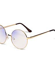 [Lentilles libres] métallique rond-cerclées rétro ordonnance lunettes informatiques