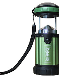 Ulecamp Multi-function 3-Mode 3x LED Tent Light(120LM,4*AA,Green)