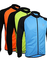 Arsuxeo Men's Long Sleeve Breathable+Quick-Drying  Cycling  Jersey