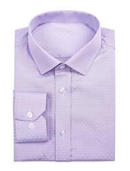 Lavender Cotton Solid Shirt