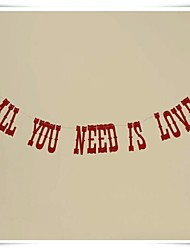 "Wedding Décor Romantic Red ""ALL YOU NEED IS LOVE""  Party Banner Photo Props"