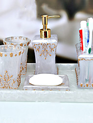 banho conjunto de acessórios, porta-escovas tradicional estilo definido 5 peça
