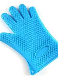 Verdickung Mikro Rösten Werkzeug Mikrowelle Wärmedämmung Handschuhe Typ Silikon, 27cm * 14cm * 0.5cm (farblich sortiert)