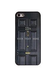 caso de telefone personalizado - caixa preta design de metal porta para iPhone 5 / 5s