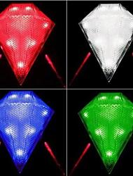 ls087 8 levou 3-mode lâmpada impermeável bicicleta colorido bicicleta luz da cauda laser (cor aleatória)