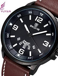 SKONE ® Men's Round Dial PU Leather Japan Quartz Movement Wristwatch (Assorted Colors) Wrist Watch Cool Watch Unique Watch