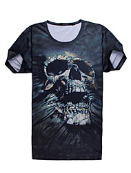 ibo mannen doodshoofdprint blouses