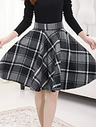 rayas de tweed de las mujeres falda con cinturón (más colores)