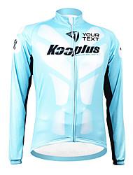 kooplus unisex primavera cara Ópera de Pekín personalizada otoño ciclismo de poliéster de manga larga jersey - azul + negro