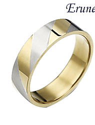 Eruner®Titanium steel Golden Stripes Ring Jewelry