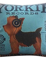 Йорки рисунок собака хлопок / лен декоративная подушка крышка