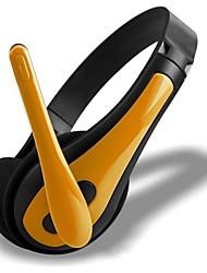 auriculares de 3,5 sobre la oreja con micrófono para PC y audio portátil